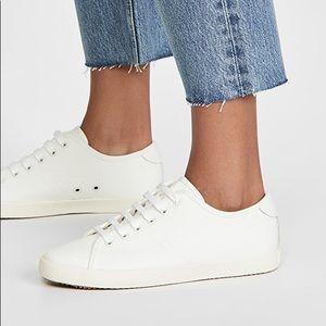 Rag & Bone White Canvas Court Sneakers
